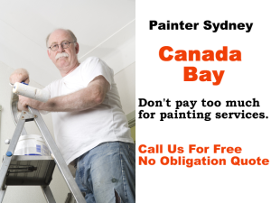 Painter in Canada Bay
