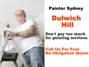 Painter in Dulwich Hill