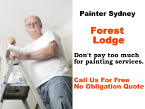 Painter in Forest Lodge