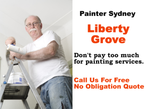 Painter in Liberty Grove