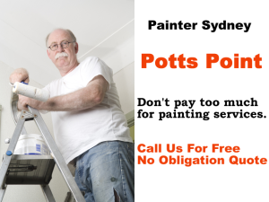 Painter in Potts Point
