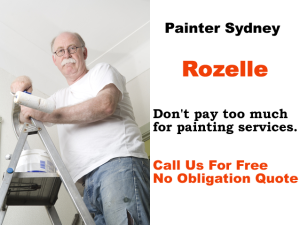 Painter in Rozelle