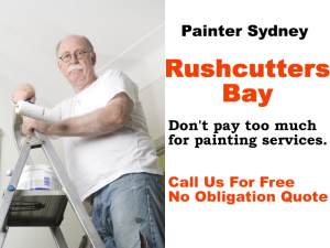 Painter in Rushcutters Bay