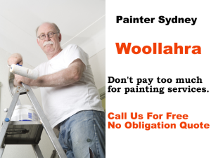 Painter in Woollahra