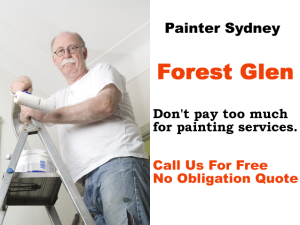 Painter in Forest Glen
