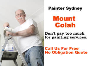 Painter in Mount Colah