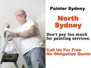 Painter in North Sydney