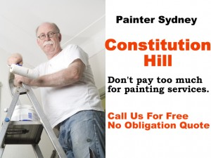 Painter in Constitution Hill