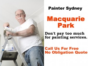 Painter in Macquarie Park